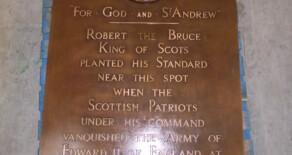 Bannockburn Heritage Centre: bronze plaques.